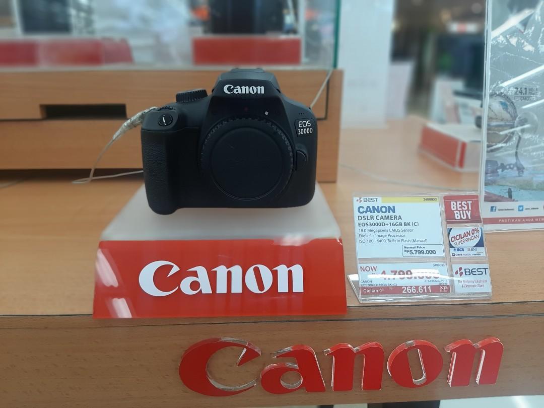 Canon EOS3000D Bisa Di Cicil Tanpa Kartu Kredit Gratis 2 Angsuran Jakarta Barat