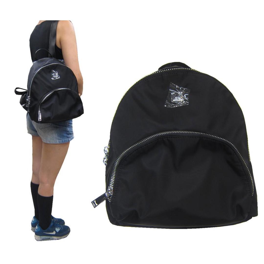 ~雪黛屋~COUNT 後背包中容量主袋+外袋共三層輕量防水水晶布+牛皮革主袋內一隔層四分類袋BCD50003101300
