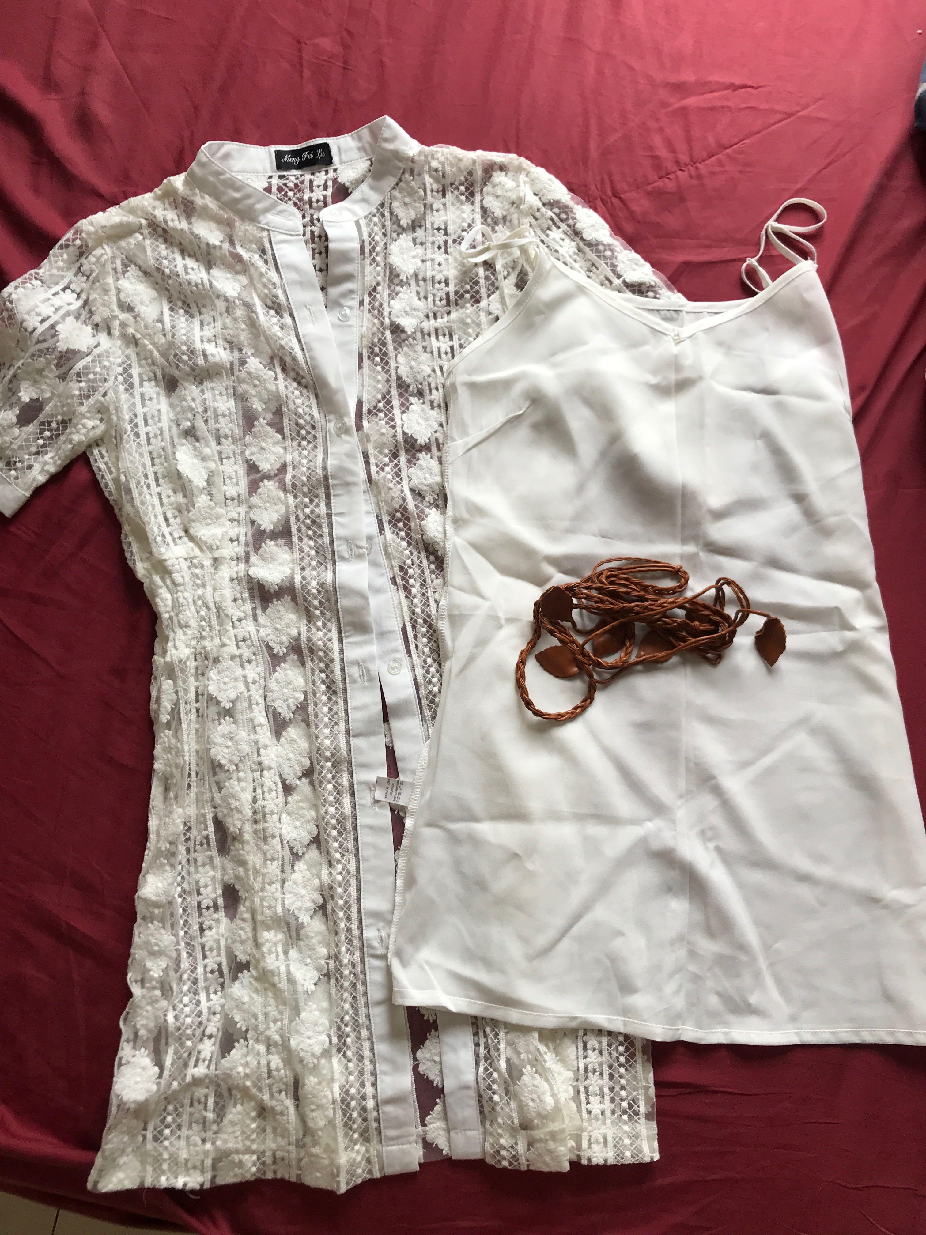 Dress Lace Vintage with Kamisol and Belt