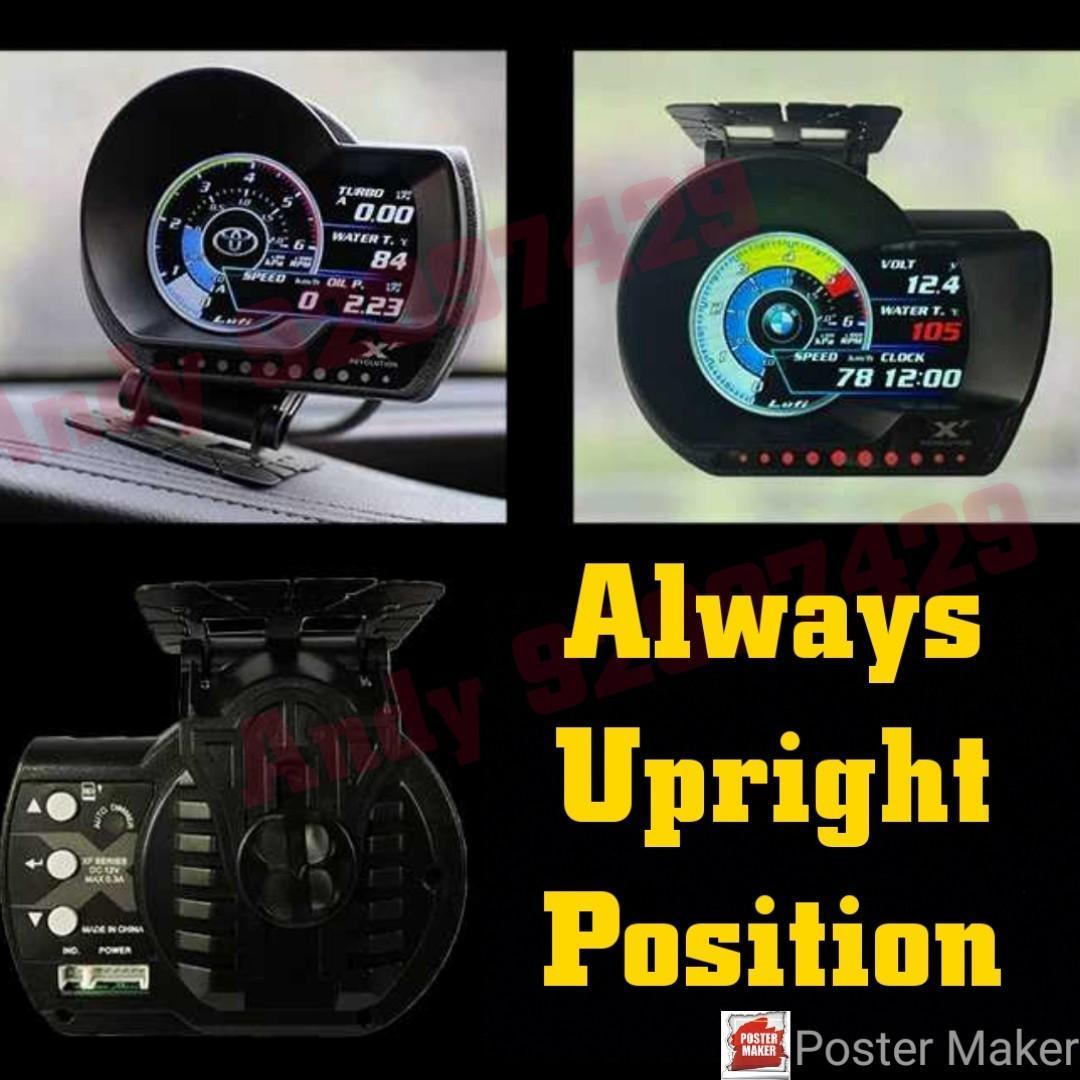 Exclusive to Lufiobd Andy Lufi XF Revolution OBD OBD2 Gauge Meter display.                #lufi #xf #magician #defi #scangauge #ultragauge 515