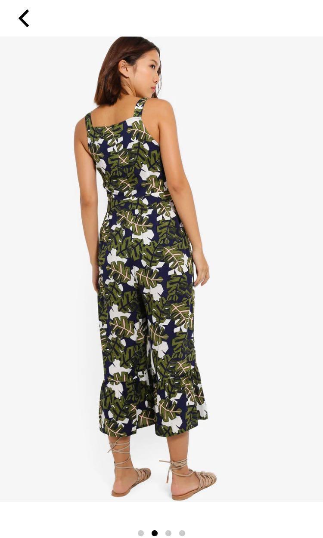 🎀[3 for $28] Floral Ruffles Hem Jumpsuit