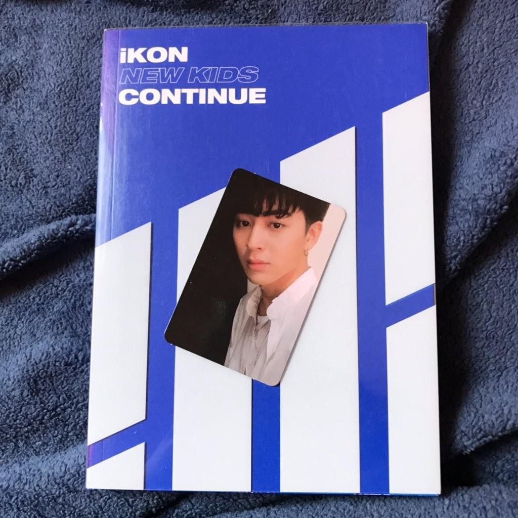 iKON photocard new kids continue yunhyeong blue ver
