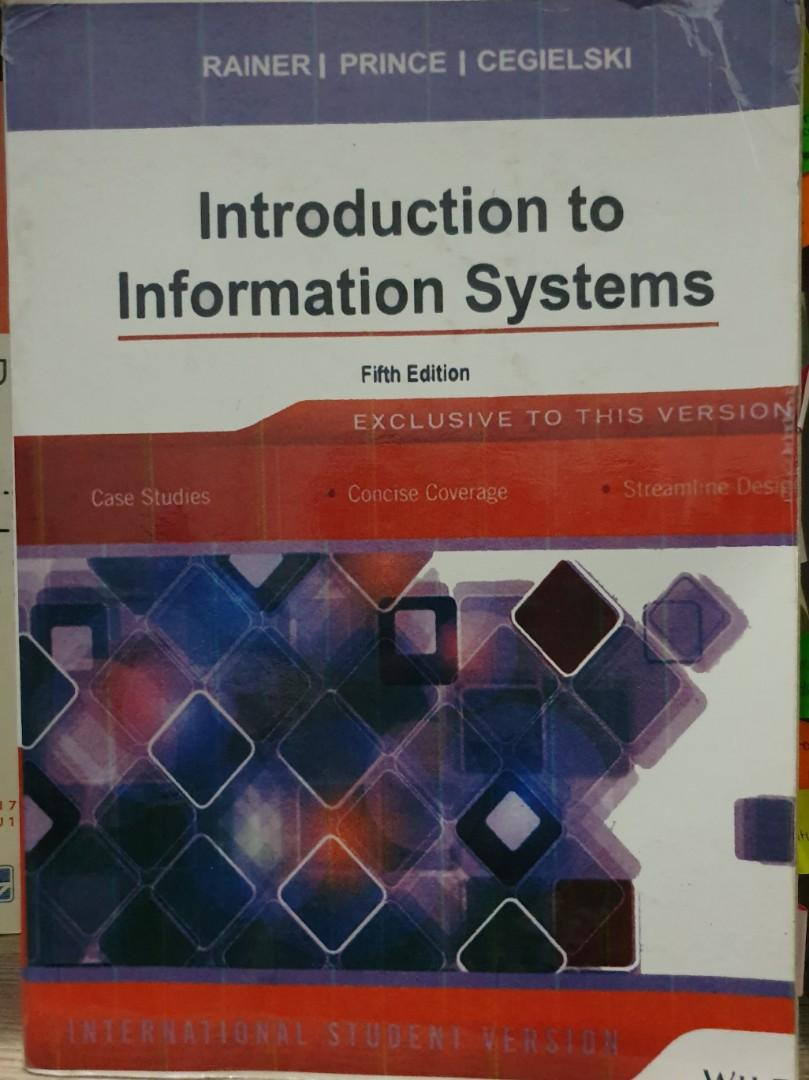 Introduction to Information Systems 5th Edition