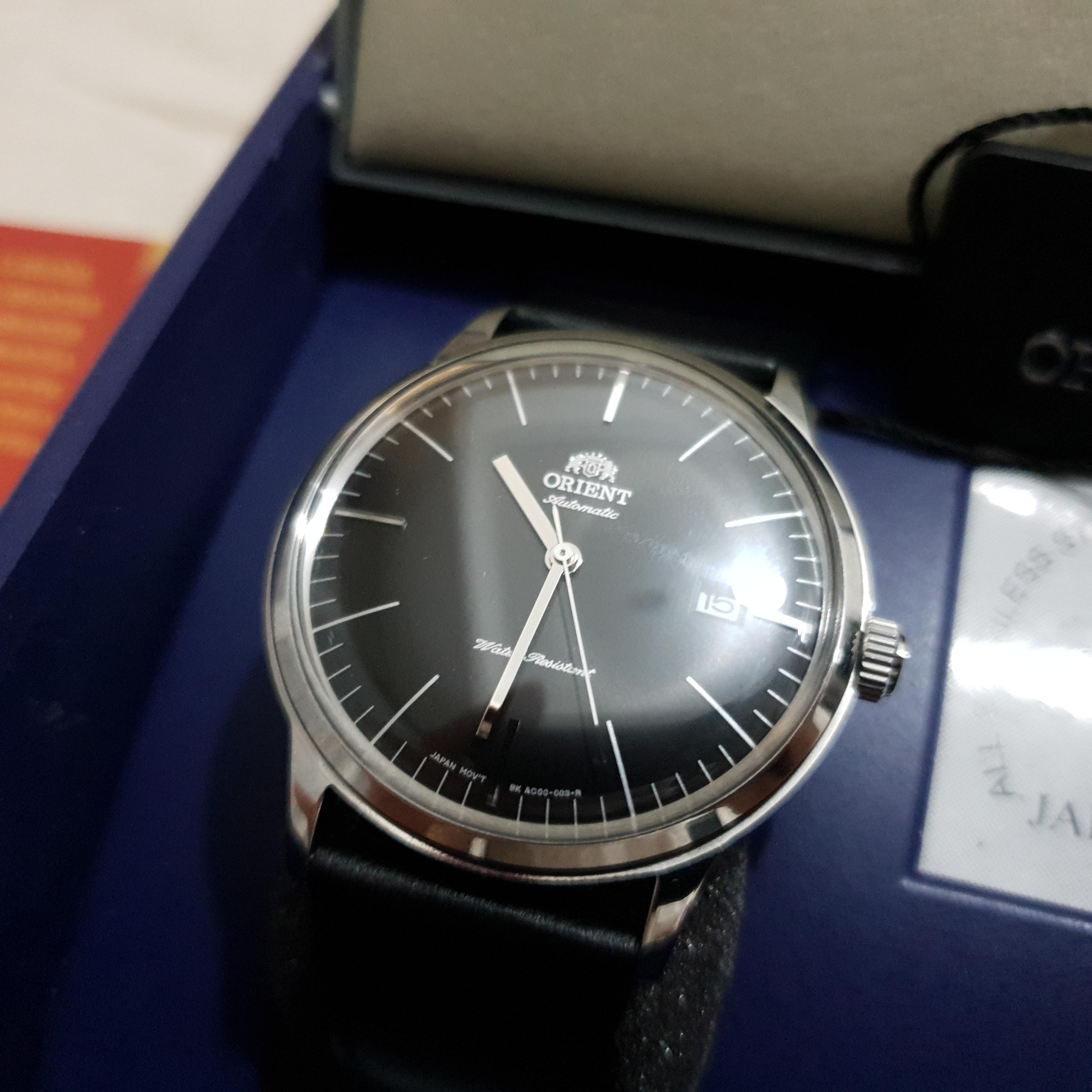 Jam Tangan Orient Bambino Black Dial 2nd Generation Version 3 FAC0000DB