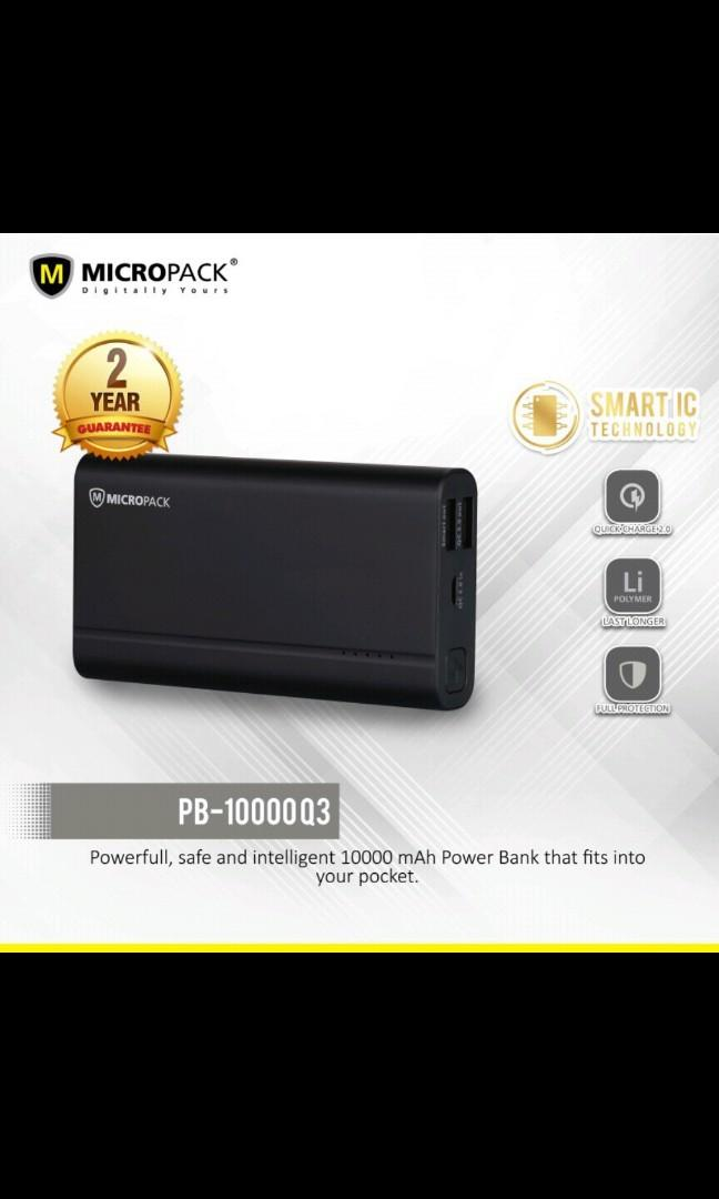 JUAL RUGI Powerbank Micropack 10000Q3 Quick Charge