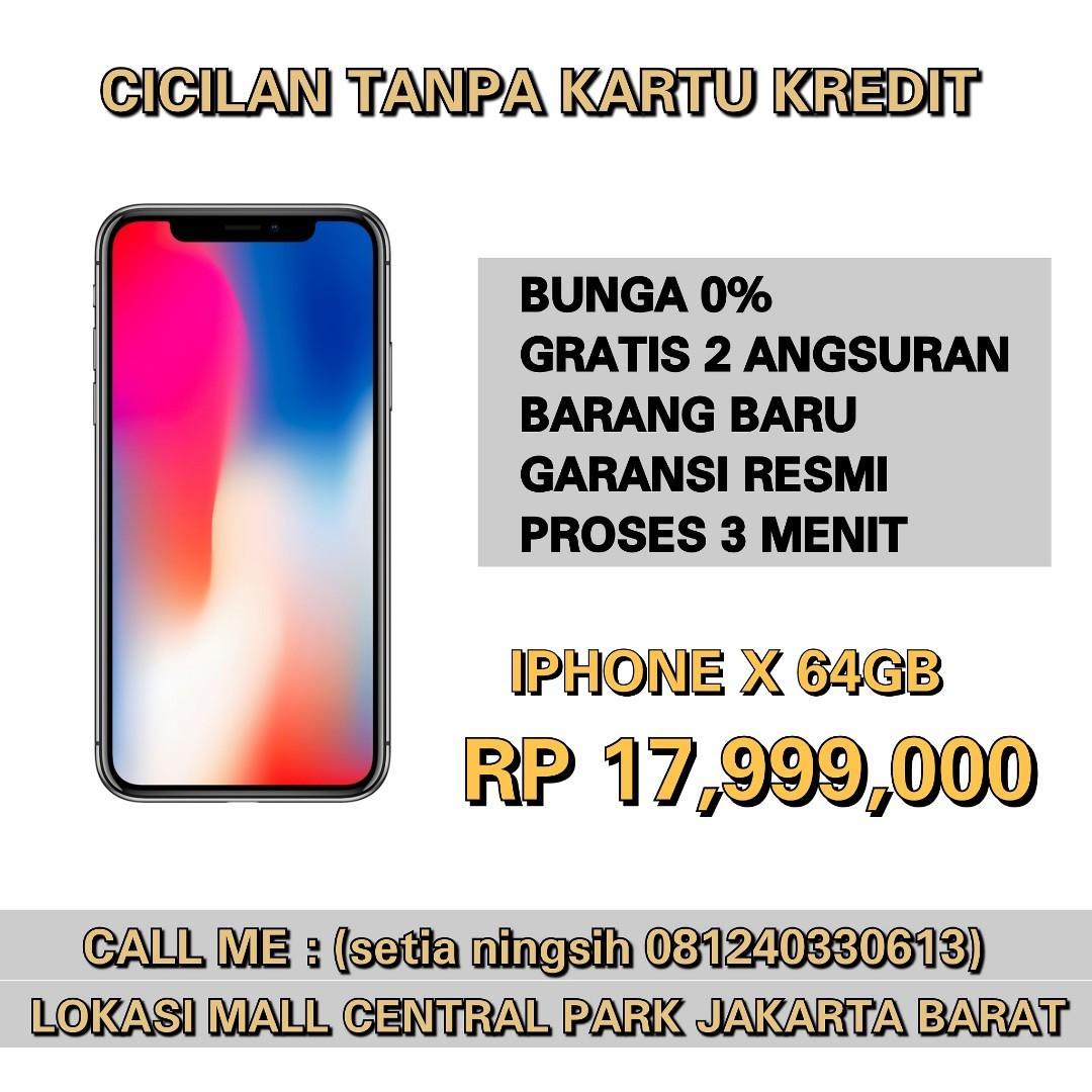 Kredit iphone X 64GB Bunga 0% Gratis 2 Angsuran ibox