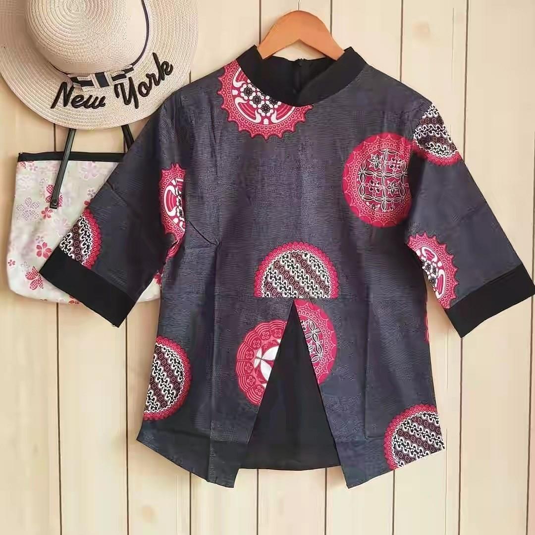 Leona black batik