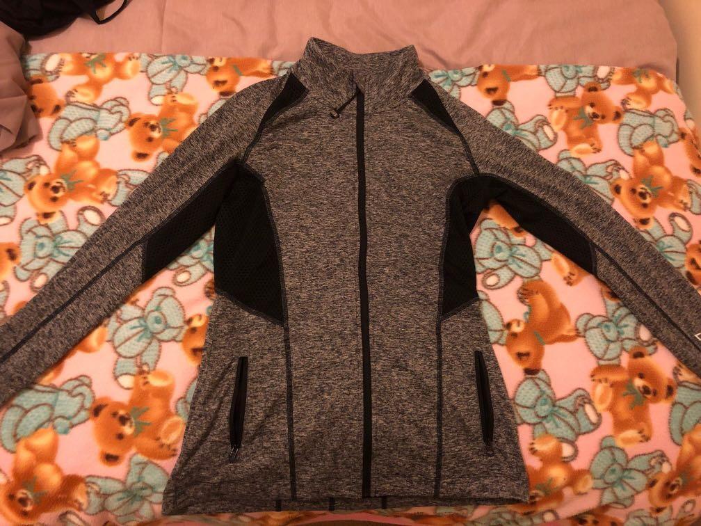 Lorna Jane Zip Jacket Grey XS