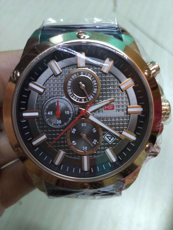 潮氣】MF男士手錶爆款熱賣時尚商務矽膠帶石英
