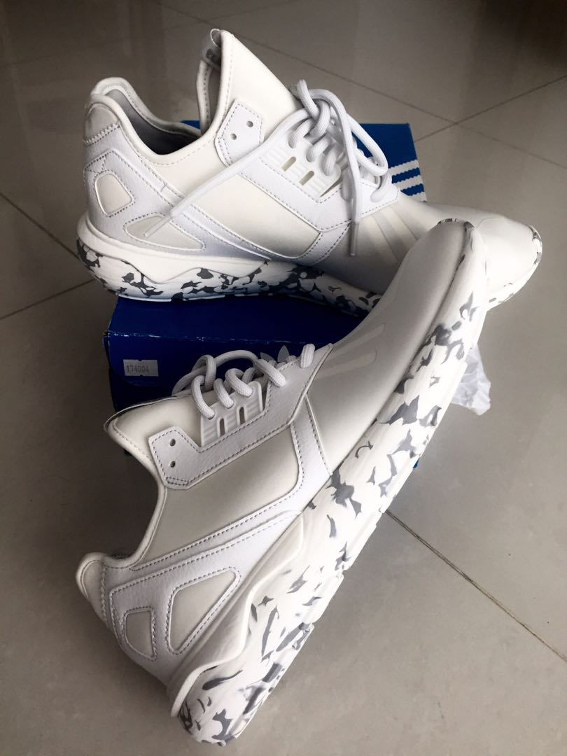 promo code 4be7f b99b4 New Original Adidas Tubular Runner Trainer Rare Vintage White F37531