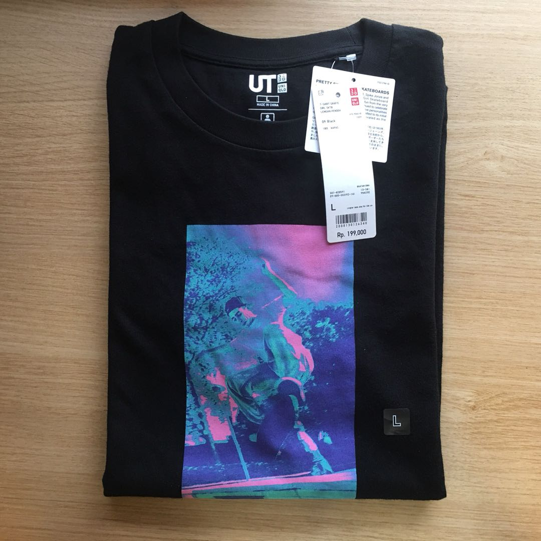"New Uniqlo ""Pretty Sweet Girl Skateboards"" T-shirt Size L"