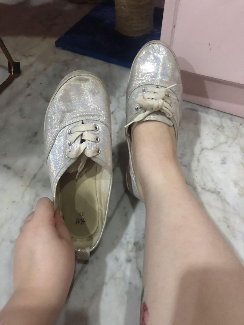 Preloved H&M Holographic Sneakers