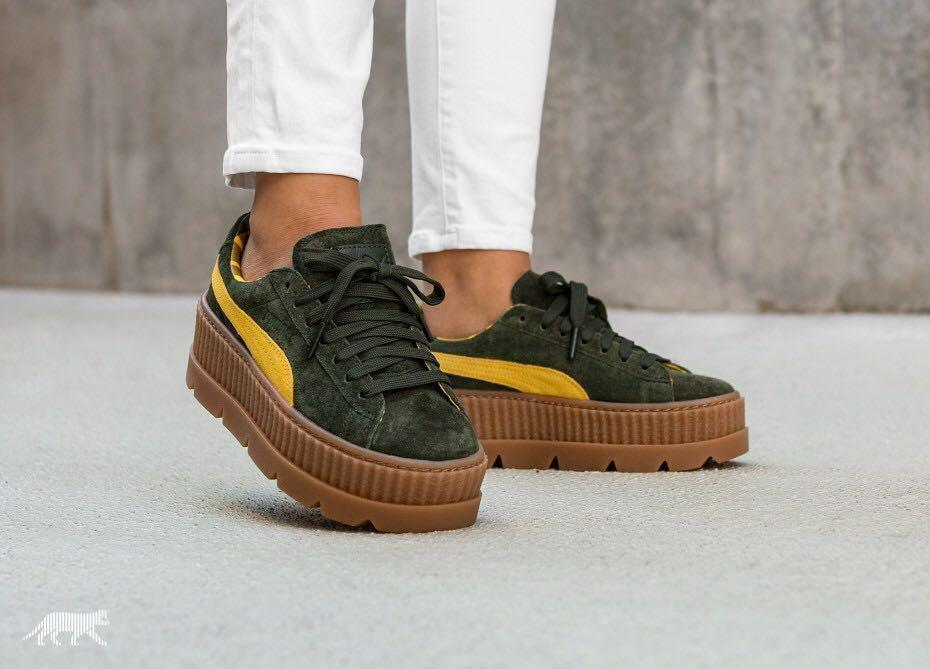 online store 71433 a2ed4 Puma Fenty Cleated Creepers (Rosin), Women's Fashion, Shoes ...
