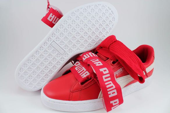 new arrival 3a4c7 37b71 PUMA Women's Heart Basket Shoes (Red)