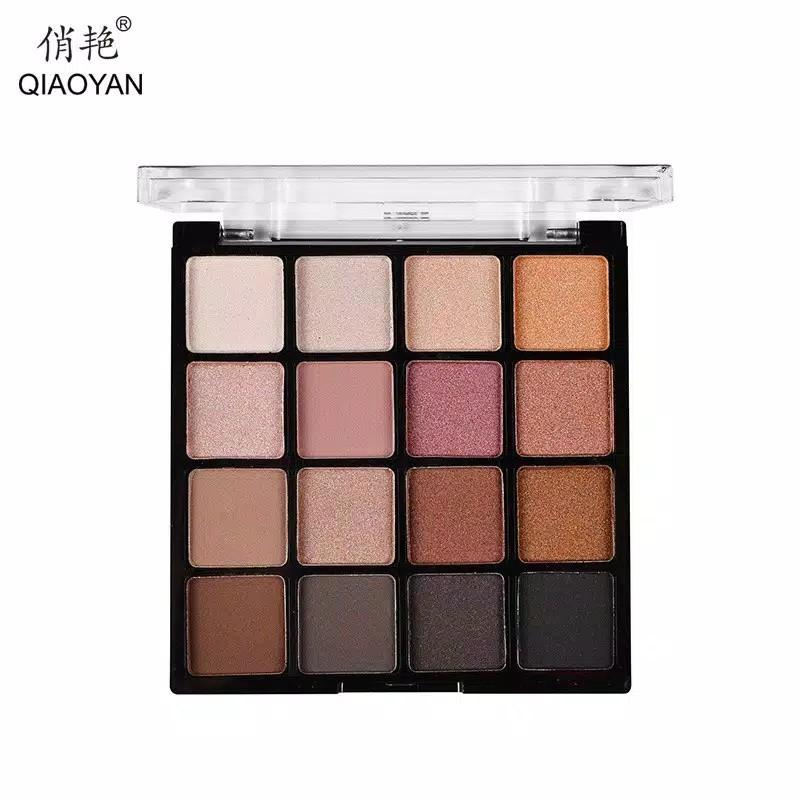 QIAOYAN EYESHADOW 16 COLOUR PALLETE (16 COLOUR)