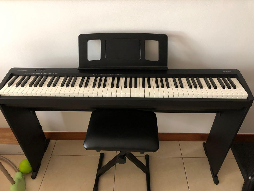 Roland Digital Piano Fp 10 Music Media Music Instruments On Carousell