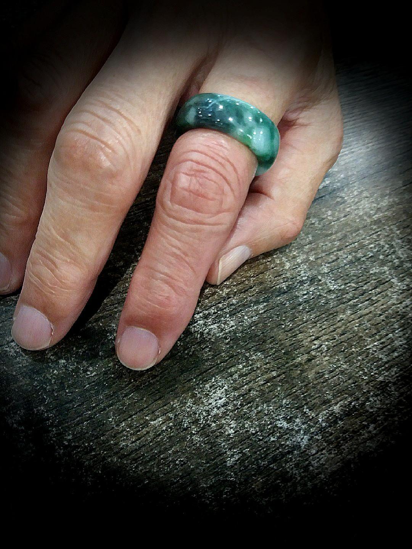 Sales! Genuine Burmese Natural Jadeite Ring