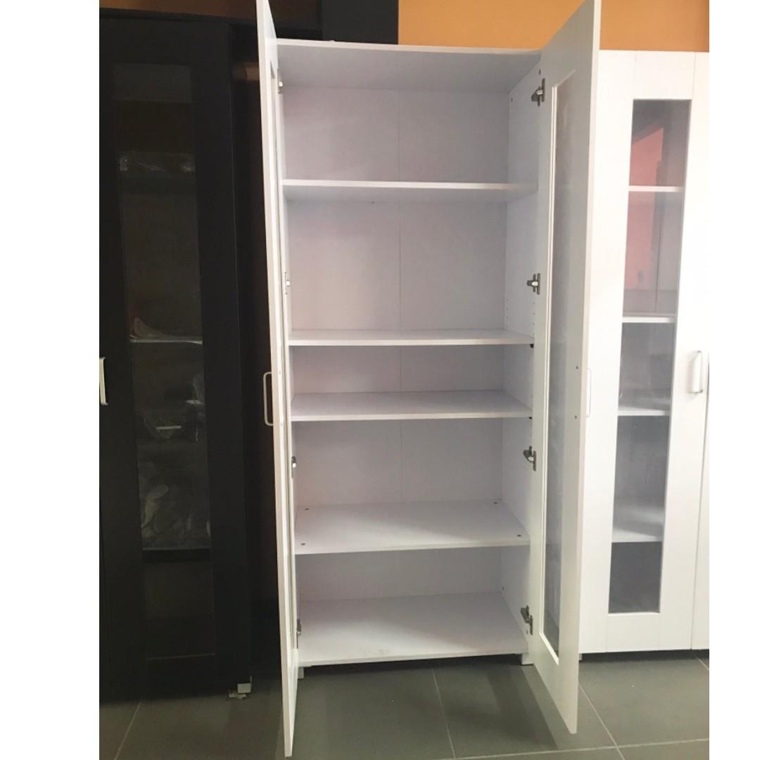 Selling Brand new 2 door 5 shelves Cupboard/ pantry ( White/ Black) at $220