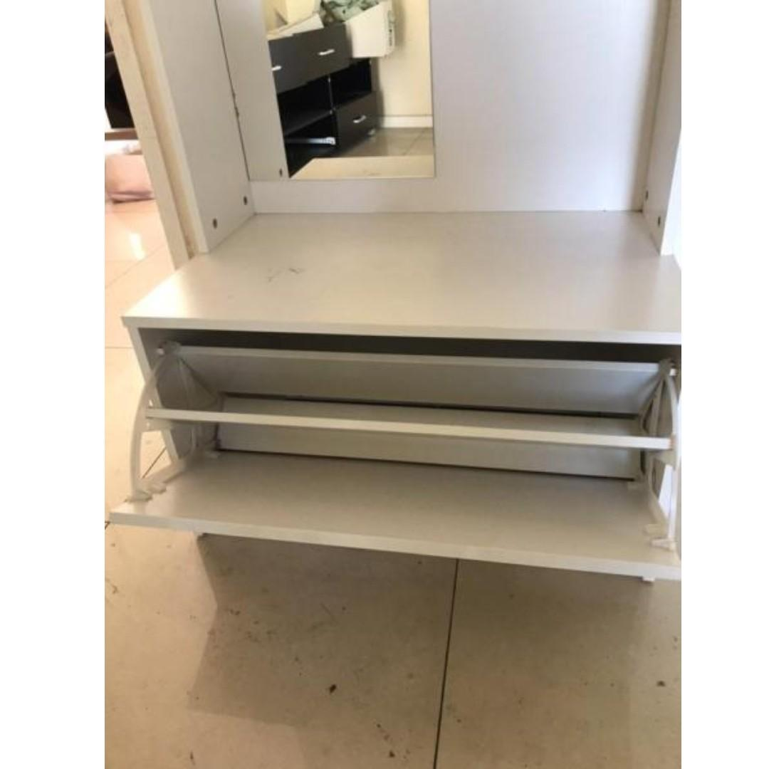 Selling brand new Utility and Shoe cabinet with mirror at $ 140