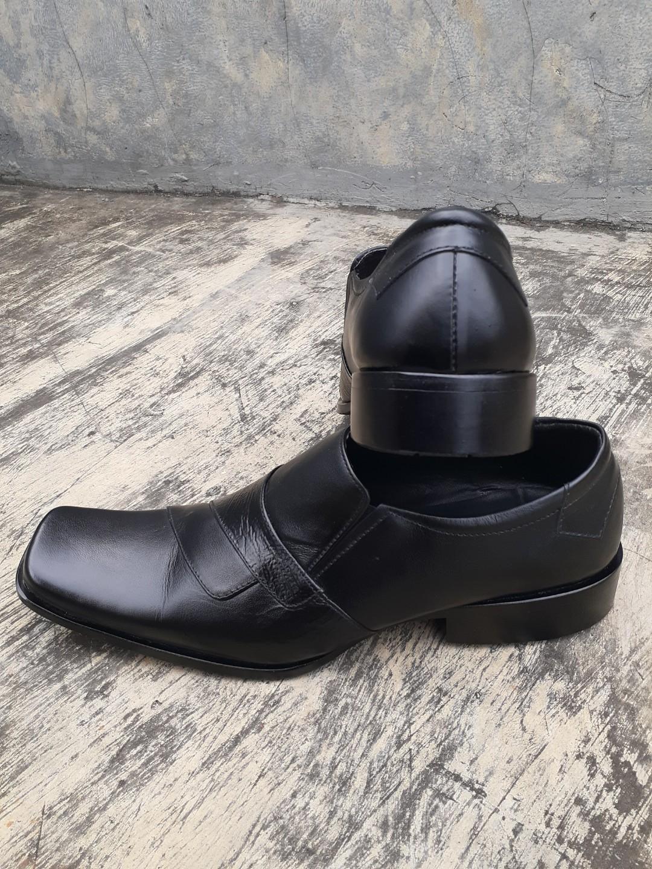 Sepatu Formal Kerja - BALLY 443 Hitam Kulit