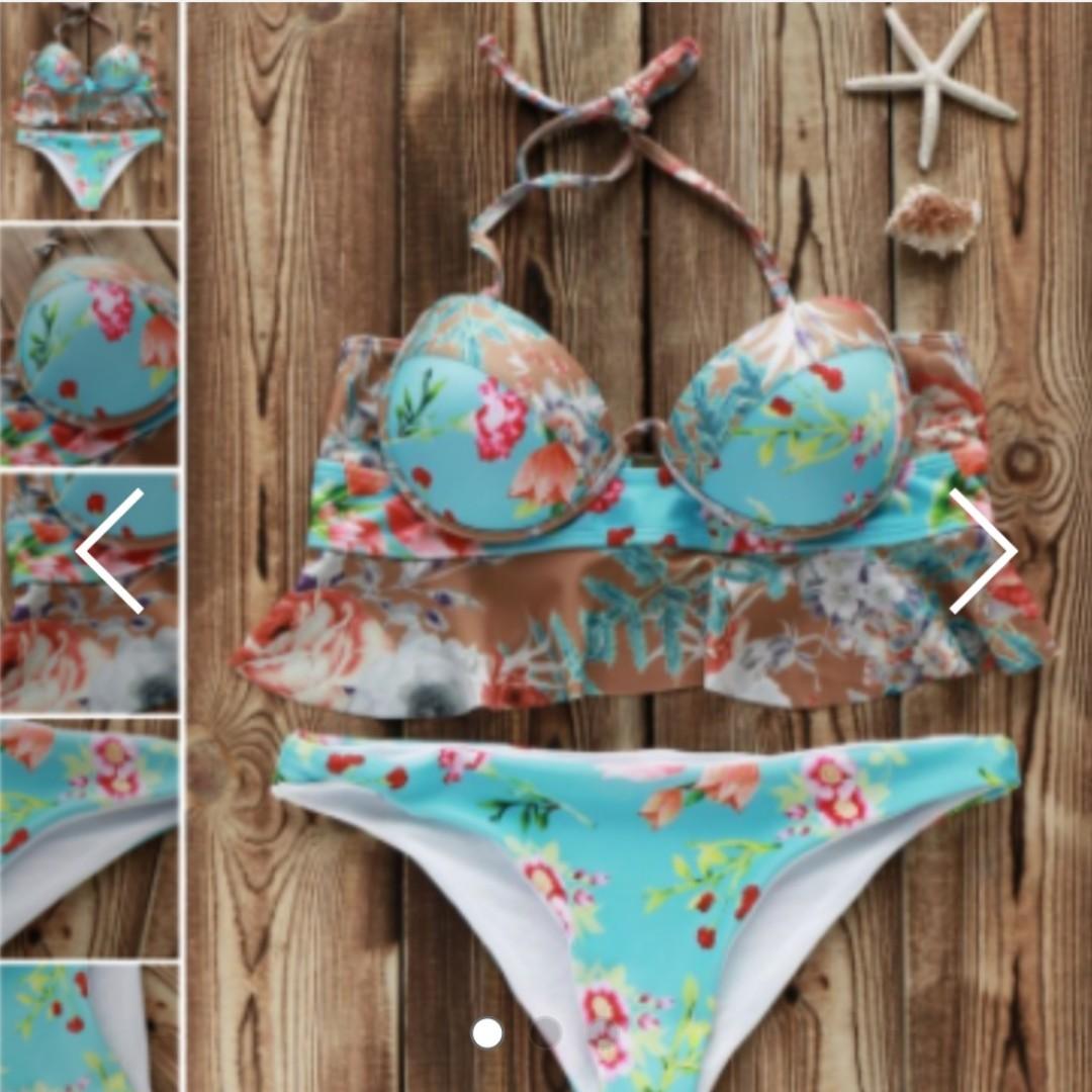 Zaful blue push up bikini