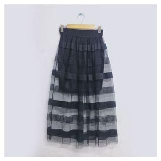 Black Tile Skirt