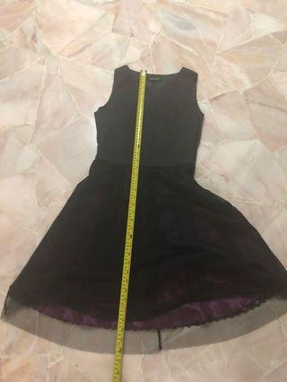 Black dress with purple insides DINNER AND DANCE / WEDDING DINNER PARTY