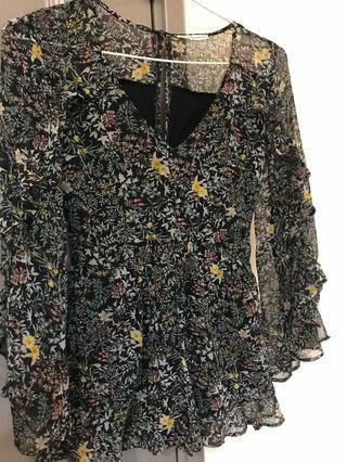 American Eagle floral jumpsuit