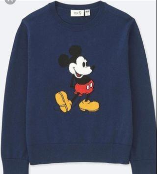 Uniqlo Kids Mickey Sweater in Navy