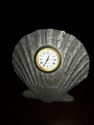 Pewter Shell Clock