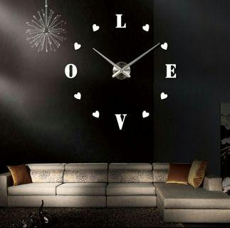🌟PM for price🌟 🍀Love Design 3D Acrylic Wall Clock🍀