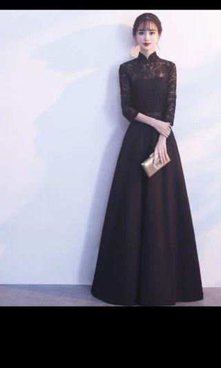 Halter lace Evening Gown maxi crochet D&d dress
