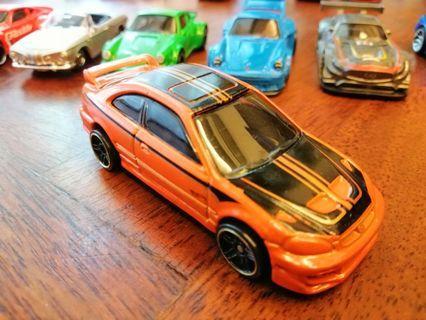 Honda Civic SI Orange Black Gold Stripes Mattel Hot Wheels Hotwheels Car #MGAG101