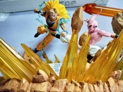 WTS/WTT Dragonball Ssj3 Goku Vs Kid Buu Diorama Resin Statue
