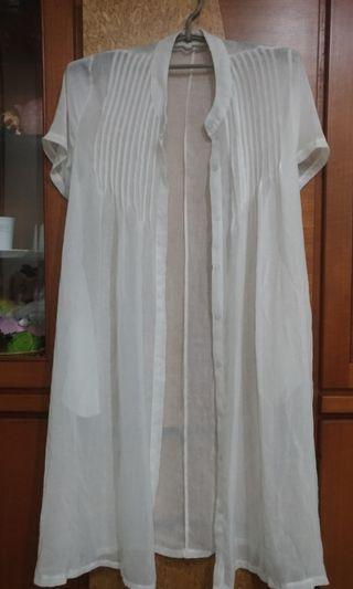 半透明罩衫 可當外罩洋裝