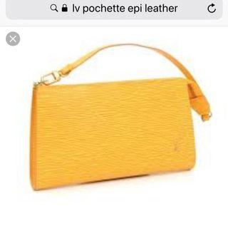Authentic Louis Vuitton Epi Pochette Bag