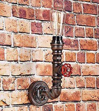 Vintage Indoor Wall Sconce Metallic Pipe Wall Lamp