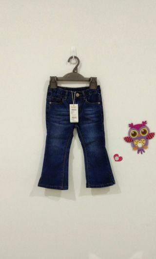 🆕2-3Y Poney Bootcut Jeans