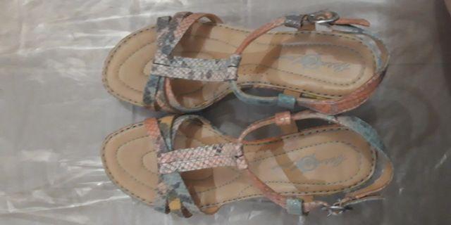 Born Crown - Myndy Heels Turquoise Metallic Snake