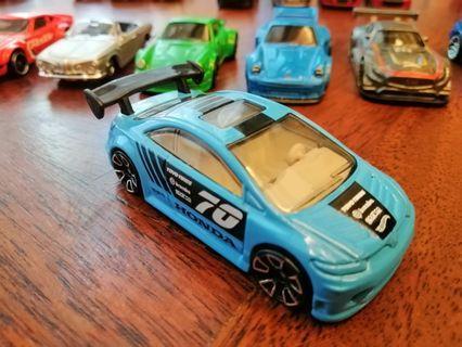 Honda Civic SI Blue 70 Toyo Tires Brembo Sparco Mattel Hot Wheels Hotwheels Car #MGAG101