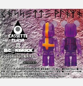 Bearbrick x Cassette Playa toy figure