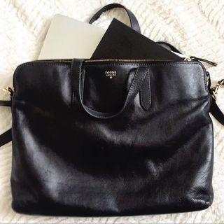 FOSSIL Emma Work Bag / Laptop Bag in Black #Rayathon50