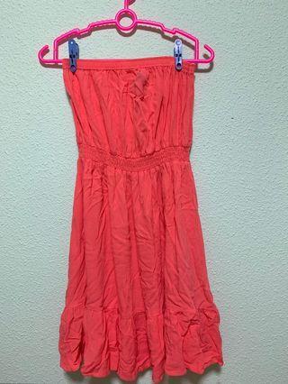🔥 H&M Coral Tube Dress