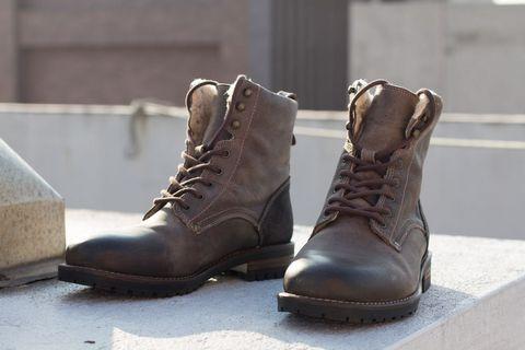 ALDO Busch Leather Boots Grey