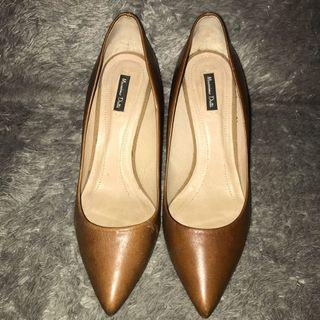 Massimo Dutti Brown Leather Shoes
