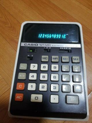casio 古老 (綠字)計算機