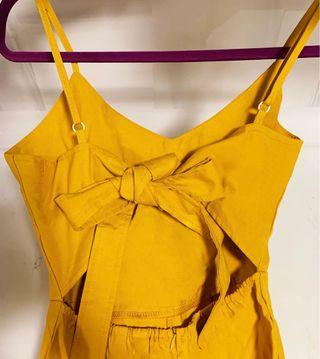 🚚 TIE BACK JUMPSUIT IN YELLOW