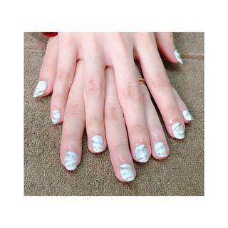 Nail art , gel extention