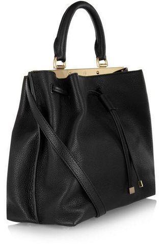 MULBERRY Kensington Black Small Textured Leather Bag Handbag