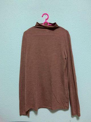 🔥 H&M Heather Brown Mock Neck Sweater